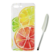 iPhone 7 Plus Case 14cm e,Vioela Cute Lovely Lemon Fruit Pattern Ultra Slim Flexible Soft TPU Silicone Rubber Gel Scratch Resistant Clear Transparent Protective Case Cover with Design for Apple iPhone 7 PLUS 5.5 Inch with Free Stylus