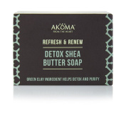 Detox & Purifying shea butter soap with tropical plant extract and Green Clay