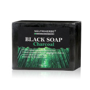 Neutriherbs Natural Charcoal Soap Deep Cleansing Face Black Soap for Women