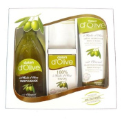 Olive with Exfoliating Towel Set