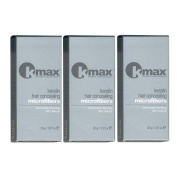 K-Max Pack 3 X 25 G BLACK Powder hair 100% Natural - Gives of Volume, Mask l'alopecia