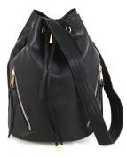 Mogano Women's Tote - High Quality Faux Leather - Black - One size