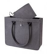 Halfar Women's Tote Bag Grey Charcoal 37 x 30 x 12 cm