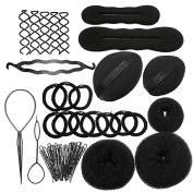 Soriace® Hair Styling Accessories, Hair Braiding Kit Topsy Tool Hair Tools Set 8 Set 24Pcs for Women Ladies Girls