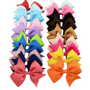 20 colours Hair bows Alligator Clip Grosgrain Ribbon headhands hair clips for girl kids