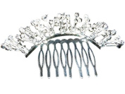 Floral Crystal Spray Buds Austrian Crystal Bridal Hair Comb