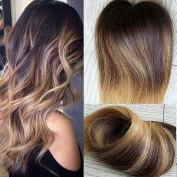 50 Gramme 1g/strand Long Hair I Tip Hair Extensions Balayage Ombre Darkest Brown to Blonde Highlight Real Human Hair Extension