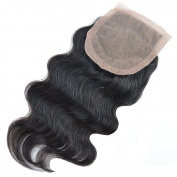 46cm TOP Lace Frontal Closure 10cm *10cm 7A Grade Peruvian Virgin Hair Remy Human Hair Extensions Unprocessed Body Wave Bundle