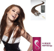 For All the Beauty 20 to 100 strands Loop Human Hair Extensions Grade 5 A 46 cm 1G/Strand 5 Colours to Choose From