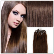 r-extensions Hair Extensions 50 cm Pose Cold Easy Loop Chocolate Brown # 4