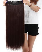 S-noilite® Hot Fashion 80cm Straight Clip in Hair Extensions Hairpiece 1 Piece Half Full Head Medium Brown