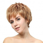 New Charming Synthetic Beauty Short Fashion Layered Bob Pale Blonde Wigs For Women Natural As Real Hair For Party/Fancy Dress/Dating