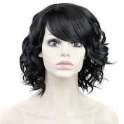 High Quality Glamorous Women Short Curly Wig Heat Resistant Lace Front Synthetic Hair Wigs For Black Women For Party/Fancy Dress/Dating