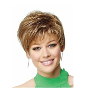 New Charming Synthetic Beauty Short Fashion Layered Bob Golden Wigs For Women Natural As Real Hair For Party/Fancy Dress/Dating