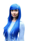 Prettyland C950 - 80cm straight heat-resistant long Hairs Lucky Star Wig - King blue