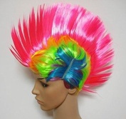 World Cup fans euro wig a wig comb hair Mohawk punk