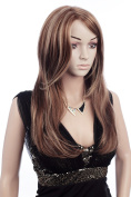 Prettystern C527 - 55cm lace front Wig level slightly wavy Handwoven Fashion long brunette goldblond