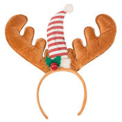 Sasairy Reindeer Headband Hair band Christmas Fancy Dress Hair Accessory for Adults or Kids, Best for Gift