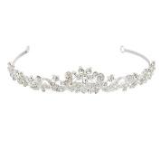 ULTNICE Crystal Wedding Bridal Bridesmaid Crown Tiara Princess Rinestone Headband hairband