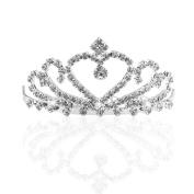 ULTNICE Wedding Bridal Bridesmaid Crystal Crown Tiara Princess Rinestone Headband with Comb Pin