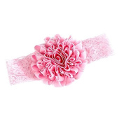 Pink Lace Flower Headband Todler Baby