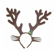 FENICAL Christmas Reindeer Antlers Headband Christmas and Easter Party Headbands Hair Accessory