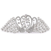 ULTNICE Wedding Crystal Bridal Hair Comb Clip Peacock Style Rinestone Hairpin Headwear Dressing Accessories Silver