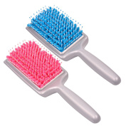 inkint 2 Pcs Absorbent Microfiber Bristles Hair Drying Comb Quick Dry Hair Brushes Radiation Protection Massage Comb Hair Care Comb for Child Pregnant Woman Using