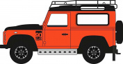 Oxford Diecast 76LRDF008AD Land Rover Defender 90 Station Waggon Phoenix Orange