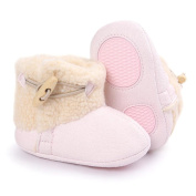 Kolylong Baby Autumn Keep Warm Soft Sole Snow Boots Soft Crib Shoes Toddler Boots