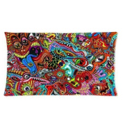 Unique Psychedelic MessCustom Pillowcase Soft Zippered Pillow Cushion Case Throw Pillow Covers 46cm X 46cm