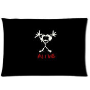 Pearl Jam Logo Pillowcase 20x30 two sides Zippered Rectangle PillowCases Throw Pillow Covers