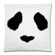 Funny & Cute Panda Face Cushion Case - Decorative Square Throw Pillow Cover Cushion Case Pillowcase with Hidden Zipper Closure - 46cm x 46cm , One-sided Print