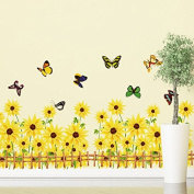 The New Listing Three Generations Wall Stickers For Children's Room Sunflower Wall Stickers - Photo Colour