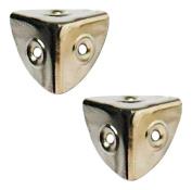 Bulk Hardware BH03646 28 mm Nickel Plated Corner Case
