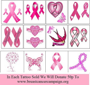 Breast Cancer Temporary Tattoo
