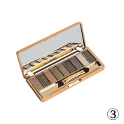 Fortan 9 Colours Shimmer Eyeshadow Eye Shadow Palette & Makeup Cosmetic Brush Set