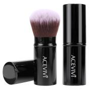 ACEVIVI Premium Retractable Kabuki Brush Makeup Brush Concealer Foundation Blush Face Powder Bronzer Brush,Black