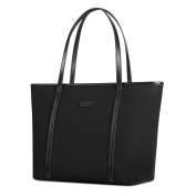 CHICECO Large Nylon Work Tote Bag Shoulder Bag for Women - Black