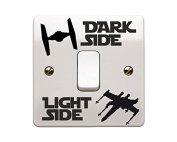 Star Wars Themed Tie Fighter and - X wing Dark /Light Side Vinyl Decal Sticker Childs Room Lightswitch Wall