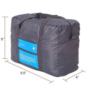 CAMTOA Waterproof Nylon Foldaway Storage/Duffel Shape Bag For Travel,Camping,Sports Gear/Gym-Large Capacity Lightweight Trolley/Tote Bag,Can Attach on the Handle of Suitcase & Luggage-Approx.47x38x16.5cm