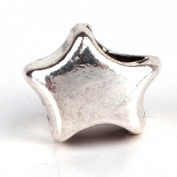 RUBYCA 30pcs Tibetan Silver Colour Spacer Star Metal Beads fit Charm Bracelet DIY Jewellery Making