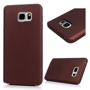 Note 5 Case,Samsung Galaxy Note 5 Case - Candy Colour Shock-absorption Soft TPU Slim Protective Bumper Oleophobic Coating Anti-slip Comfortable Touch Rubber Skin Gel Case Cover by Badalink - Dark Red