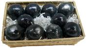 Basket of Bombs! 10 pcs. Black Bath Bombs 170ml Aloe Vera Kaolin Clay scented w/ Little Black Dress