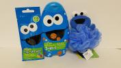 Sesame Street Cookie Monster Bath Time Bundle 3pc