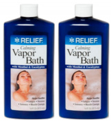 Lot of 2 Calming Vapour Bath with Menthol & Eucalyptus 470ml/each bottle