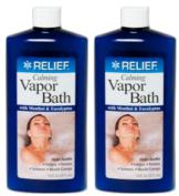 Lot of 2 Calming Vapour Bath with Menthol & Eucalyptus 470ml/each bottle