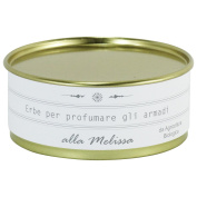 Organic Wardrobe Freshener Made in Italy, land of Asti - with Sage in a Vintage Tin Box