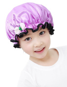 Mesehome Double Waterproof Children Shower Cap,Kids Cartoon Shower Hat Lovely Reusable Spa Bathing Caps