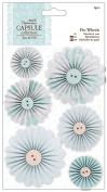 Papermania Eau De Nil Pinwheels 6/Pkg-